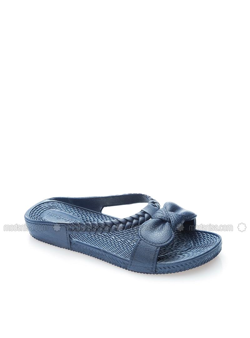 c8842c42d1e4 Navy Blue - Sandal - Slippers - BFGMODA. Fotoğrafı büyütmek için tıklayın