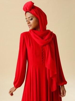 Chiffon Shawl - Red
