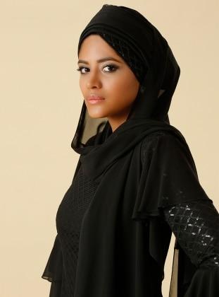 Chiffon Shawl - Black