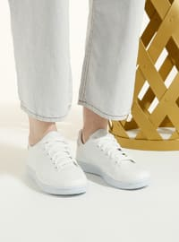 White - Silver tone - Sport - White - Silver tone - Sport - Sports Shoes