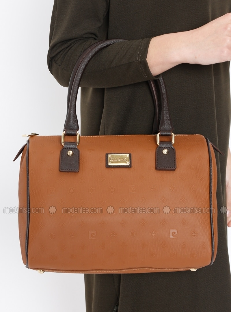 Tan - Satchel - Crossbody - Bag - Pierre Cardin