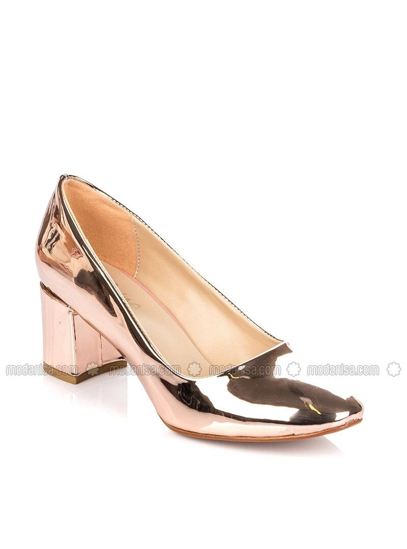 53cd726136c1 Pink - Gold - High Heel - Heels. Fotoğrafı büyütmek için tıklayın