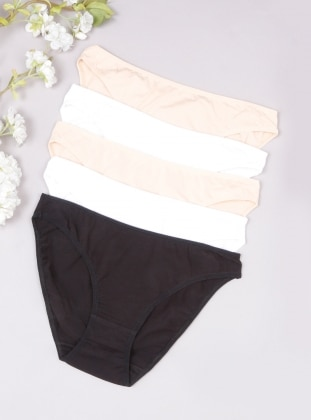 Black - White - Beige - Panties