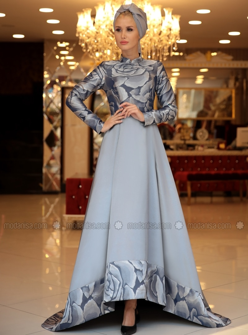 141a9da8bff85 https   www.modanisa.com en gray-floral-fully-lined-crew-neck-muslim-evening -dresses-selma-sari-design-411169.html