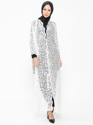 White - Ecru - Unlined - Abaya