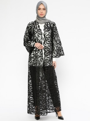 Black - Unlined - Abaya - ModaNaz 411663