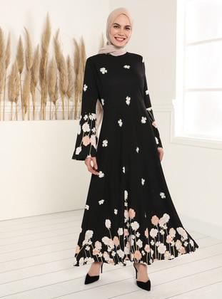 Patterned Dress - Black