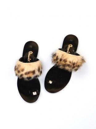Black – Yellow – Sandal – Slippers – Bambi