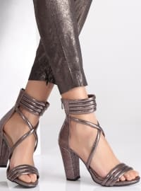 Abiye Ayakkabı - Platin - Ayakkabı Havuzu