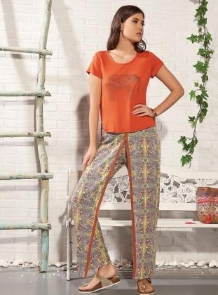 Orange - Crew neck - Shawl - Orange - Crew neck - Shawl - Orange - Crew neck - Shawl - Orange - Crew neck - Shawl - Pyjama