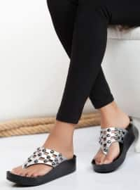 Sandalet - Gümüş - Ayakkabı Havuzu