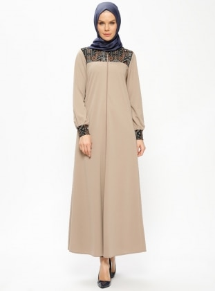 Minc - Unlined - Crew neck - Abaya - Miss Cazibe