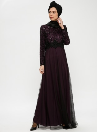 Long Sleeve Muslim Evening Dresses Modanisa