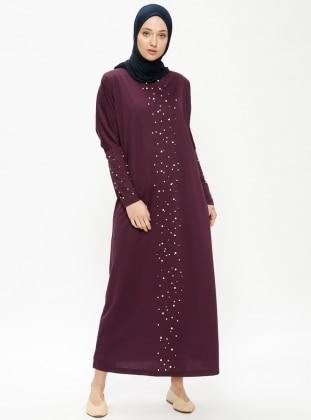 Purple - Crew neck - Unlined - Dresses - Dadali 413849