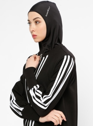 Black - Sports Bonnet - Ecardin