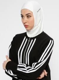 Hijab Spor Deniz Bonesi - Krem - Ecardin
