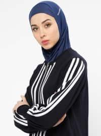 Hijab Spor Deniz Bonesi - Lacivert - Ecardin