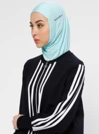 Hijab Spor Deniz Bonesi- Mint - Ecardin