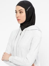 Hijab Spor Deniz Bonesi - Siyah - Ecardin