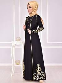 Black - Unlined - Crew neck - Muslim Evening Dress