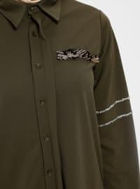 Khaki - Point Collar - Tunic