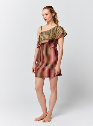 Multi - Stripe - Half Covered Switsuits