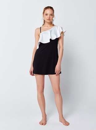 Black - White - Half Covered Switsuits