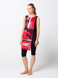 Red - Black - Multi - Half Covered Switsuits