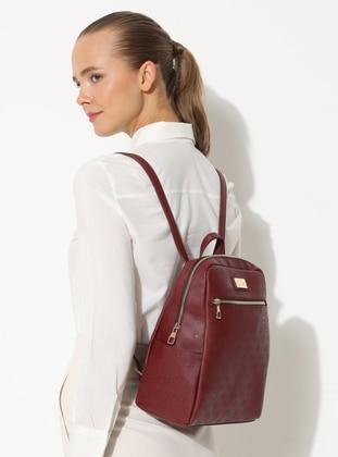 Maroon - Backpack - Bag - Pierre Cardin
