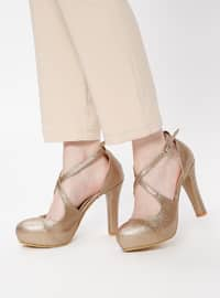 Brown - High Heel - Evening Shoes