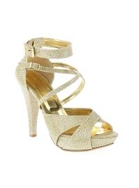 Gold - High Heel - Evening Shoes