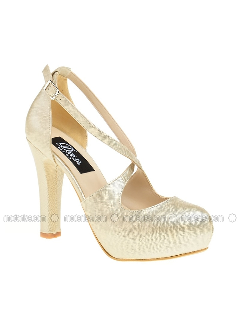 Golden tone - High Heel - Evening Shoes