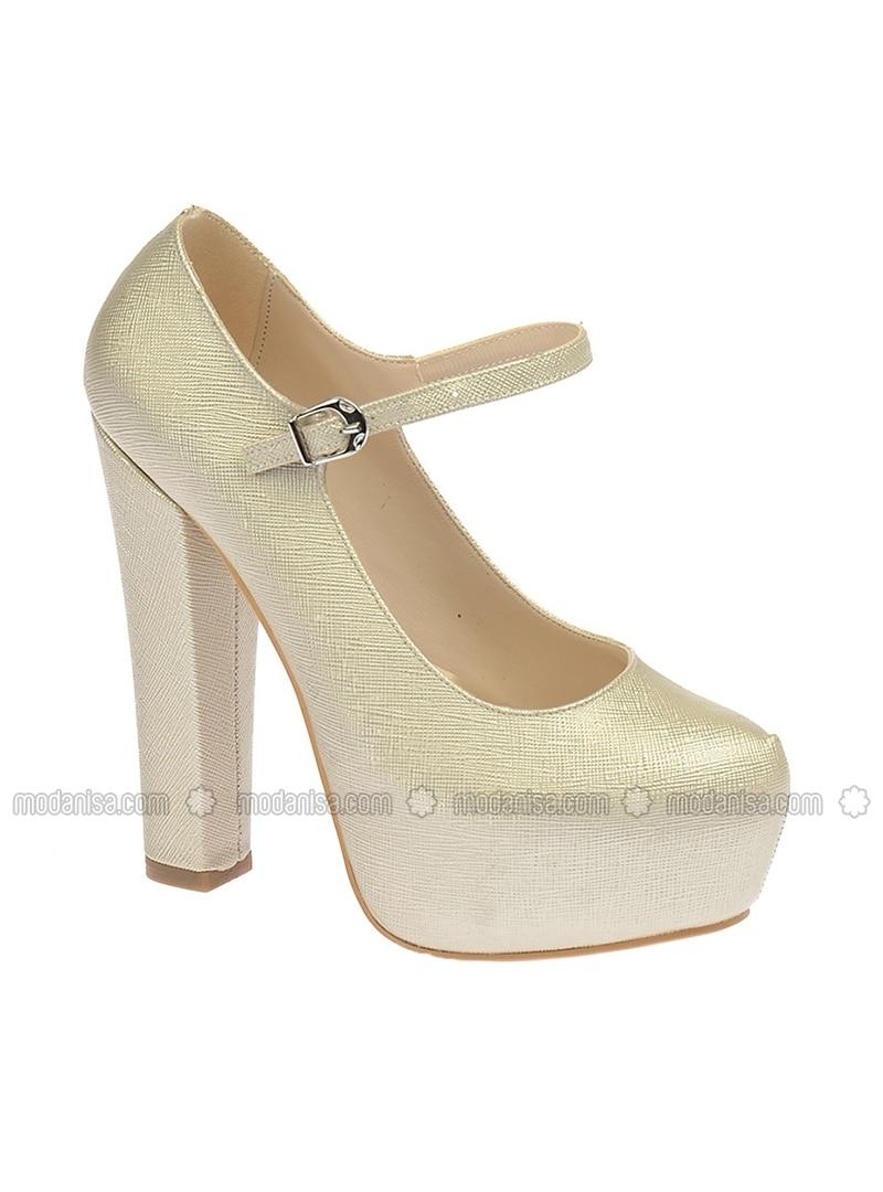 Golden tone - High Heel - Evening Shoes