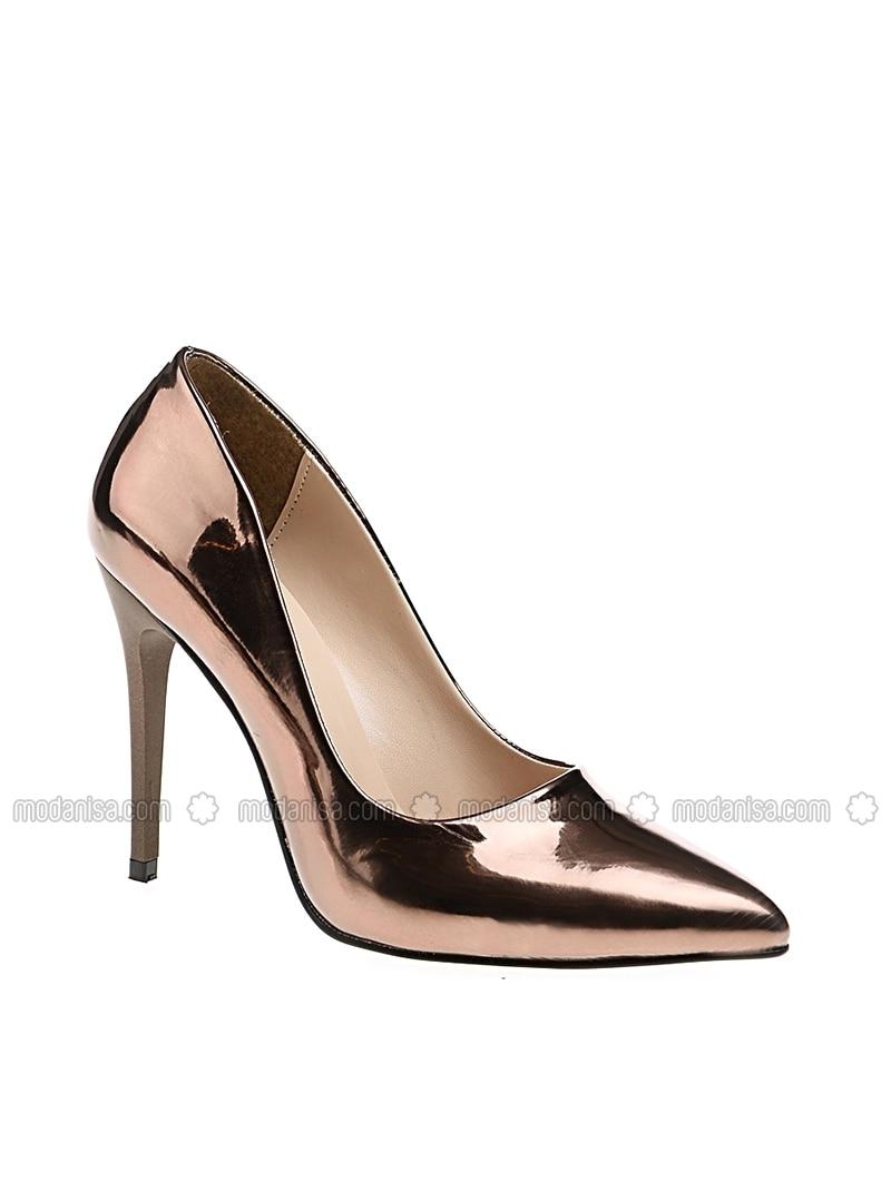 Abiye Topuklu Ayakkabı Bakır