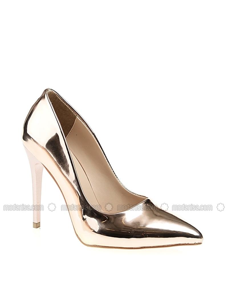 Brown - High Heel - Evening Shoes