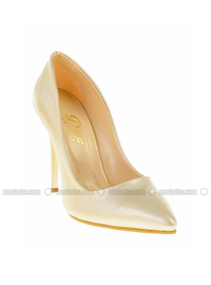 Beige - High Heel - Evening Shoes
