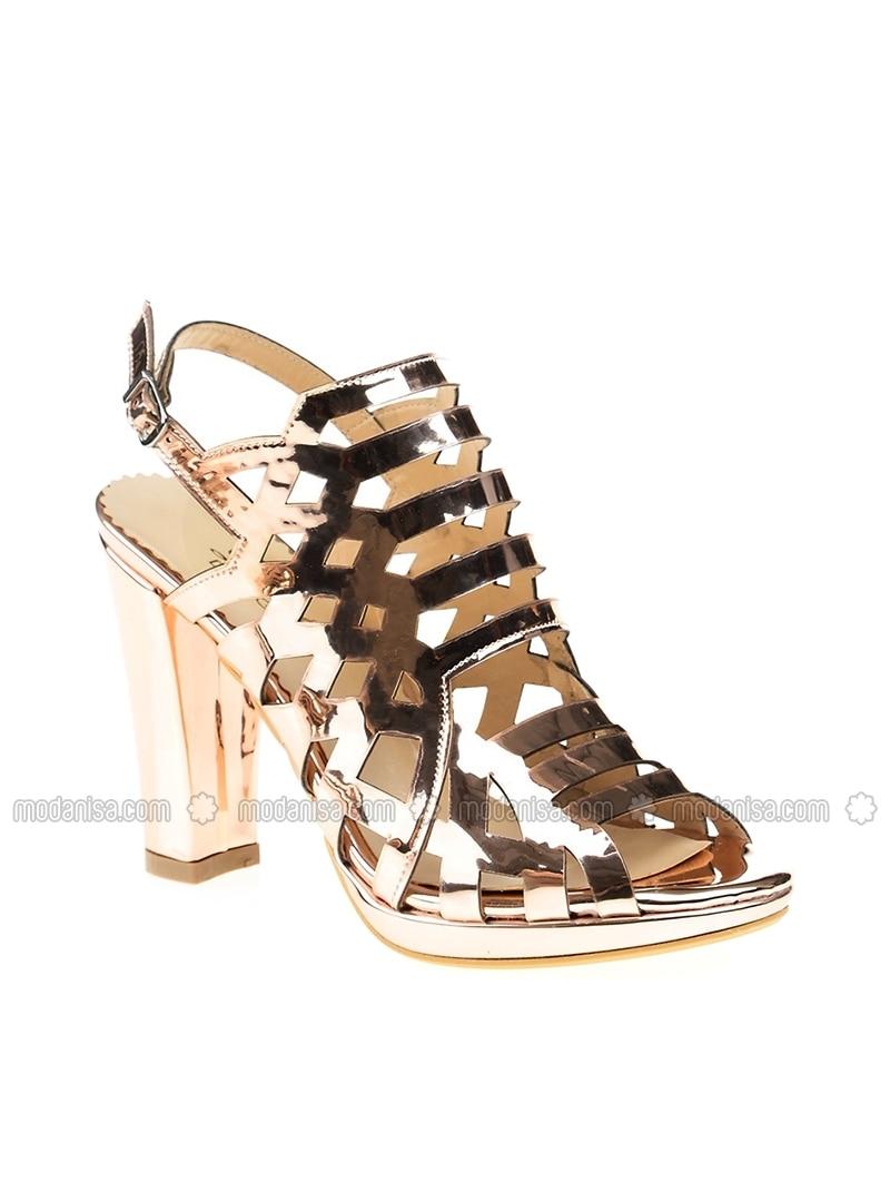 Salmon - High Heel - Evening Shoes