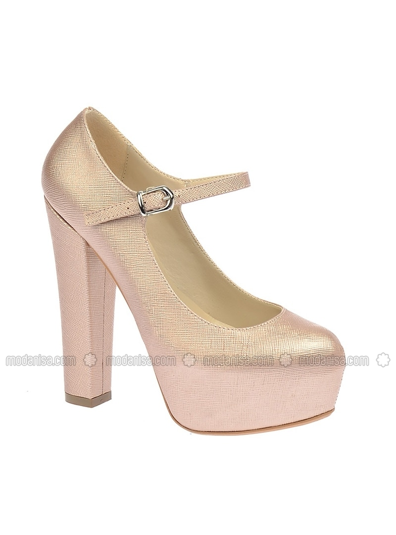 Salmon - High Heel - Evening Shoes