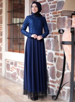 Amine Hüma Hijab Kleid Modelle   Modanisa