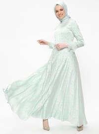 İlgen Abiye Elbise - Mint - Nurbanu Kural