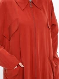 Tan - Unlined - Point Collar - Abaya