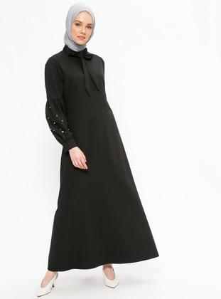 Taşlı Elbise - Siyah - Neways Ürün Resmi