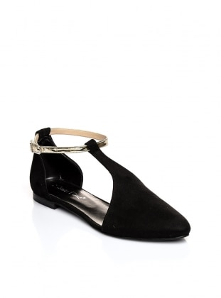 Black – Golden Tone – Casual – Shoes – Shoestime