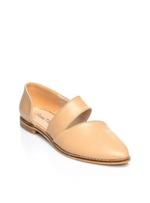 Beige – Flat – Shoes – Shoestime