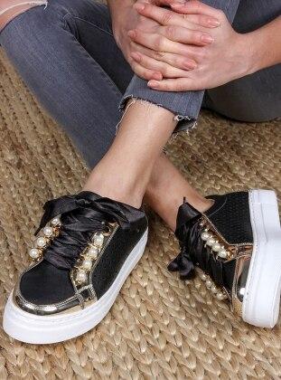 Spor Ayakkabı - Siyah Gold - ROVIGO Ürün Resmi