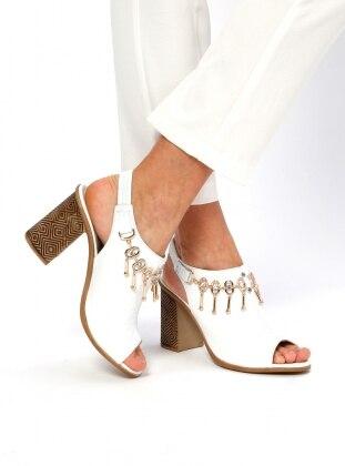 Topuklu Ayakkabı - Beyaz - Pierre Cardin Ürün Resmi