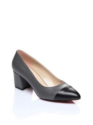 Black – Gray – High Heel – Heels – Shoestime