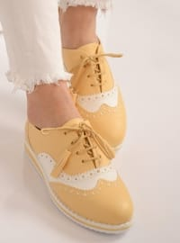 White - Yellow - Casual - Shoes