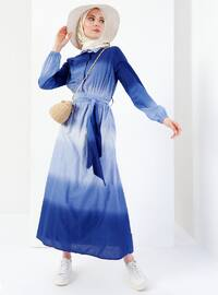 Indigo - Point Collar - Fully Lined - Dresses