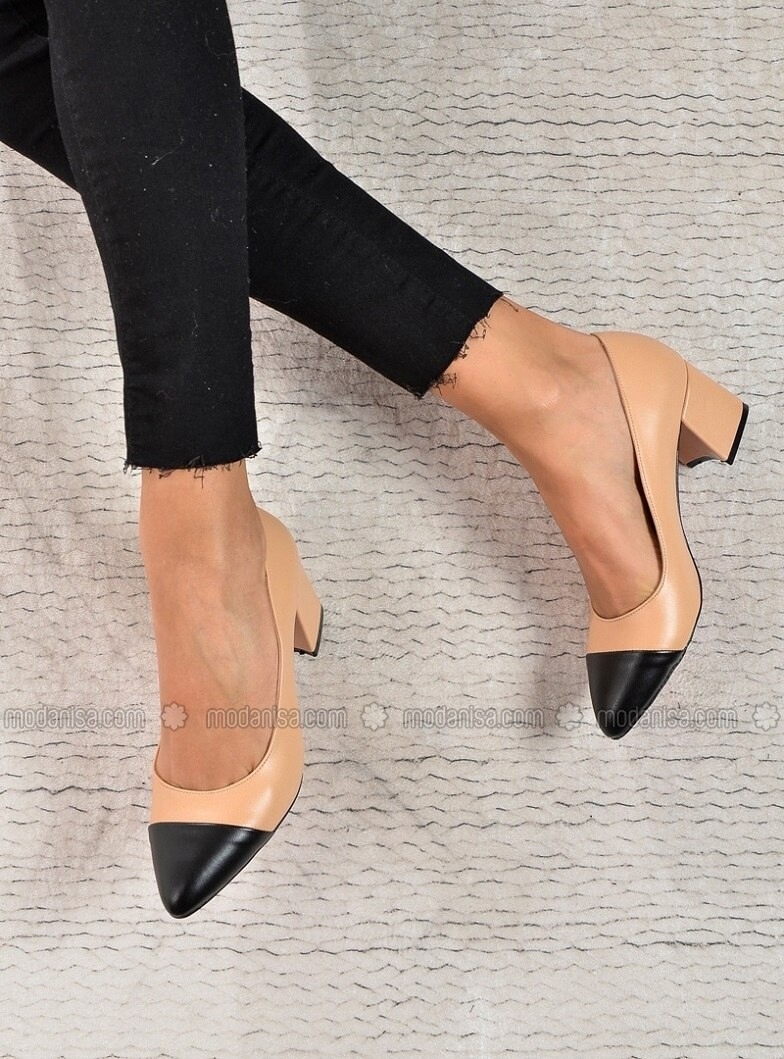 Black - Beige - High Heel - Heels